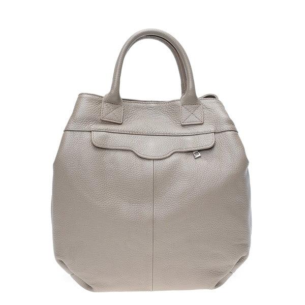 Béžová kožená kabelka Isabella Rhea