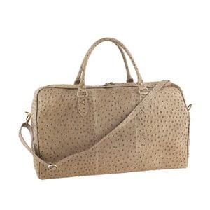 Béžová kožená kabelka Tina Panicucci Ganger