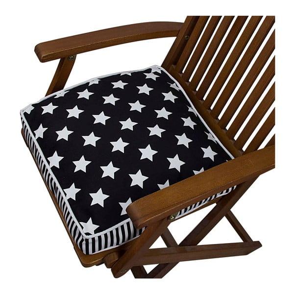Pernă pentru scaun Gravel Star Sky B&W, 42x42cm,cuumplutură