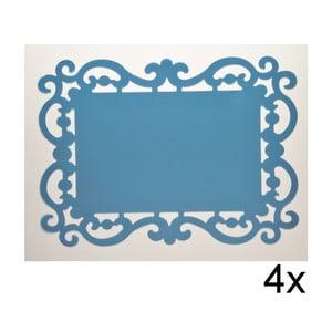 Set prostírání Baroque Blu, 4 ks