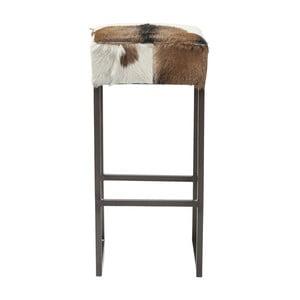 Barová židle s potahem z pravé kozí kůže Kare Design Country