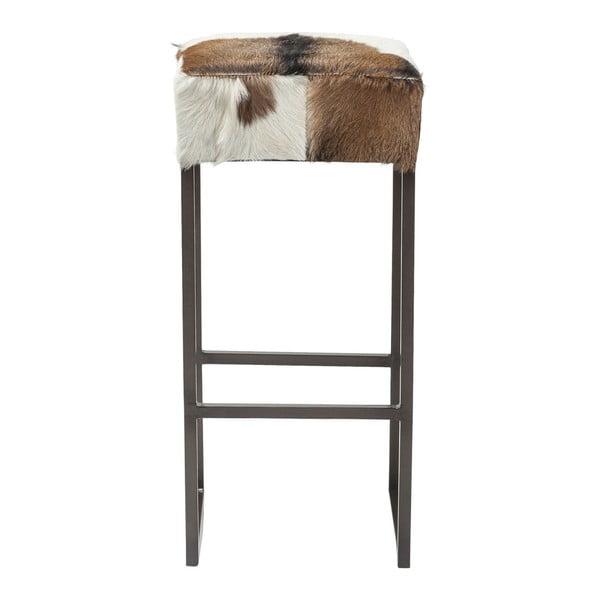 Barová stolička s poťahom z pravej kozej kože Kare Design Country