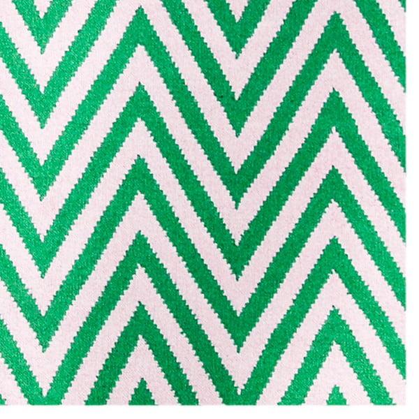 Vlněný koberec Zig Zag Green, 200x140 cm