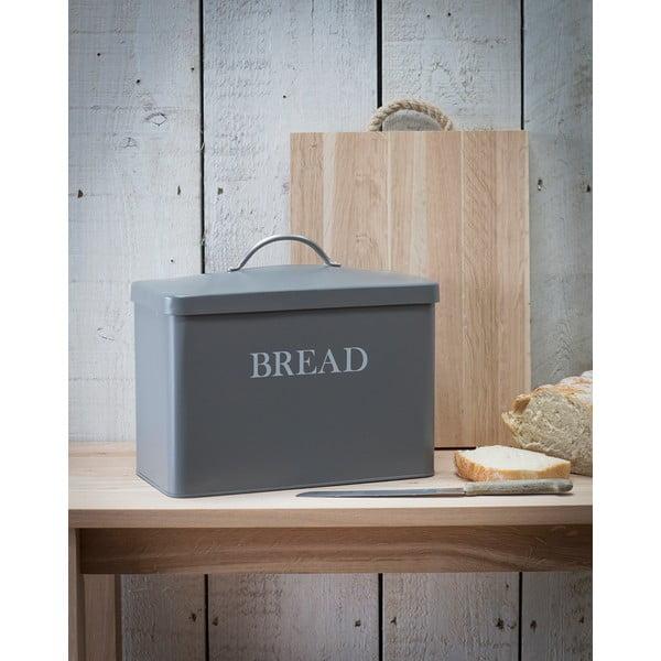 Šedý box na chleba Garden Trading In Charcoal