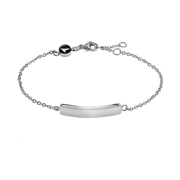 Lines női ezüstszínű rozsdamentes acél karkötő - Emily Westwood