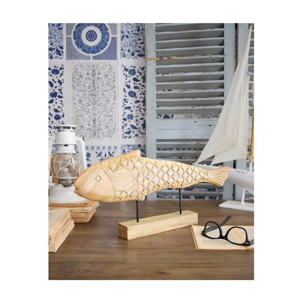 Dekoracja drewniana Orchidea Milano Fish Pike, wys. 20 cm