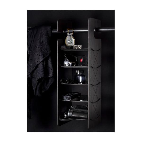 Závěsná/stojací police Smardrobe 50x15 cm, černá
