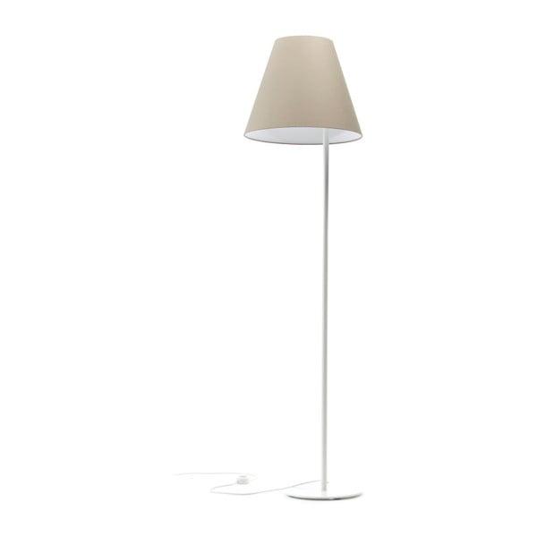Krémová stojací lampa 4room Book, 158 cm