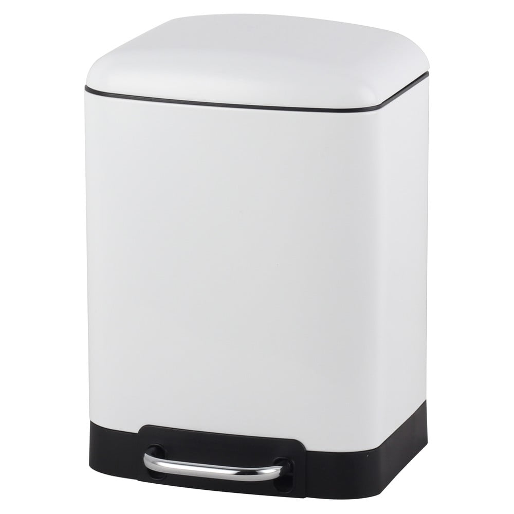 Bílý koš Steel Function Square Dustbin 6 l