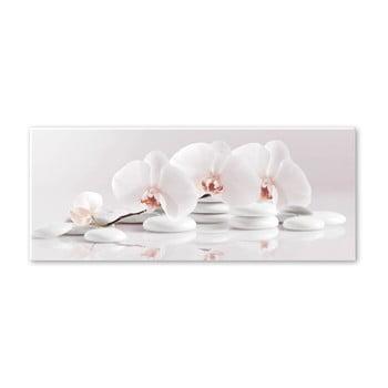 Tablou Styler Glasspik Spa & Zen White Stones, 50 x 125 cm de la Styler