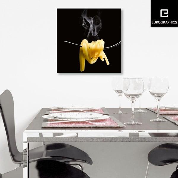Skleněný obraz Spaghetti Al Dente, 30x30 cm