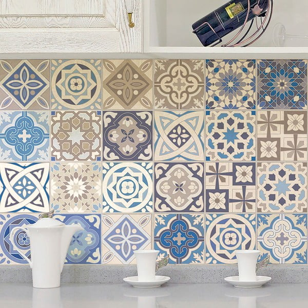 Honduras dekoratív matrica szett, 24 darab, 15 x 15 cm - Ambiance
