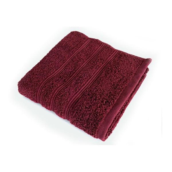 Tmavě červená osuška z česané bavlny Irya Home Classic, 70x130 cm