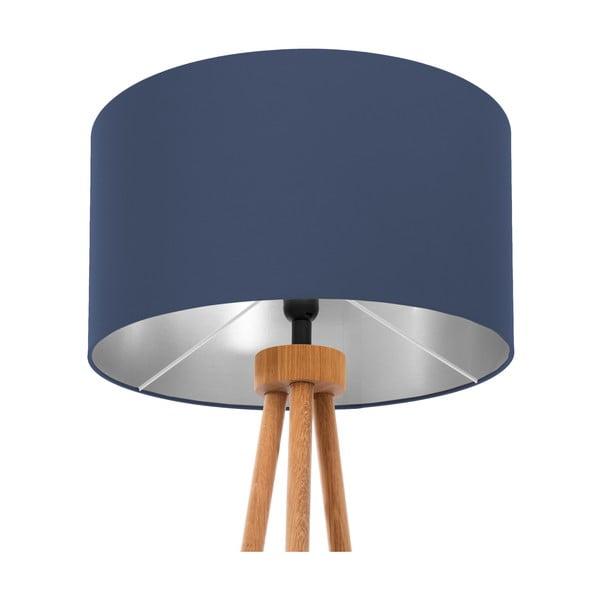 Stojací lampa Dark Blue Silver