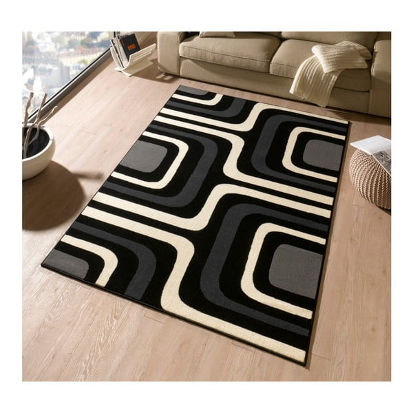 Koberec Hanse Home Hamla William Black, 80 x 150 cm