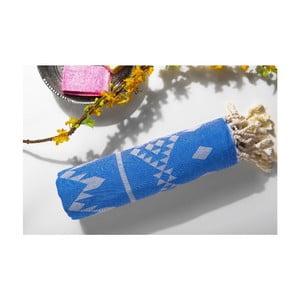 Hammam osuška Carpet, modrá