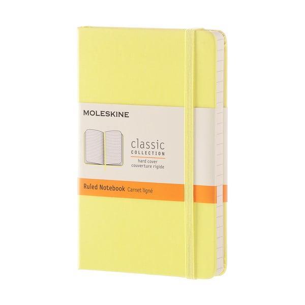 Žltý linajkový zápisník v pevnej väzbe Moleskine Daisy, 192 strán