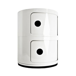 Container cu 2 sertare Kartell Componibili, alb