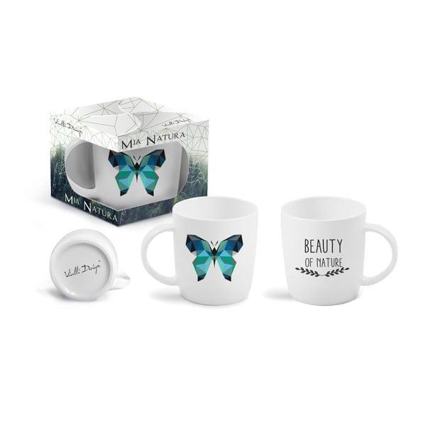 Cană cu mesaj imprimat față - verso Vialli Design Butterfly, 370 ml