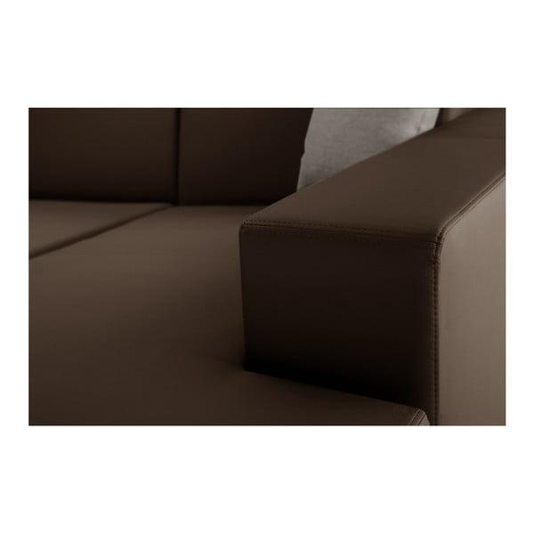 Světle hnědá rozkládací sedačka Interieur De Famille Paris Tresor, pravý roh
