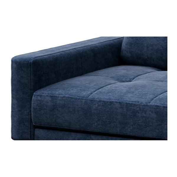 Modrá pohovka s lenoškou na pravé straně MESONICA Musso Tufted
