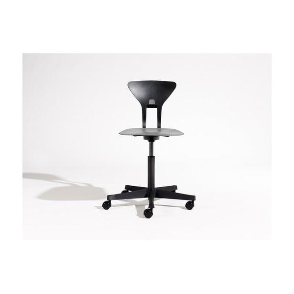 Černá dětská otočná židle na kolečkách Flexa Ray