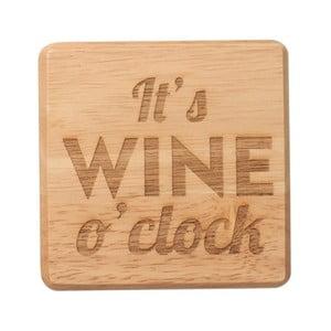 Podtácek z exotického dřeva T&G Woodware It's Wine O'Clock