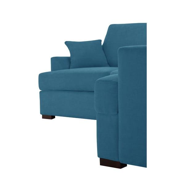 Rohová pohovka Jalouse Maison Irina, pravý roh, modrá