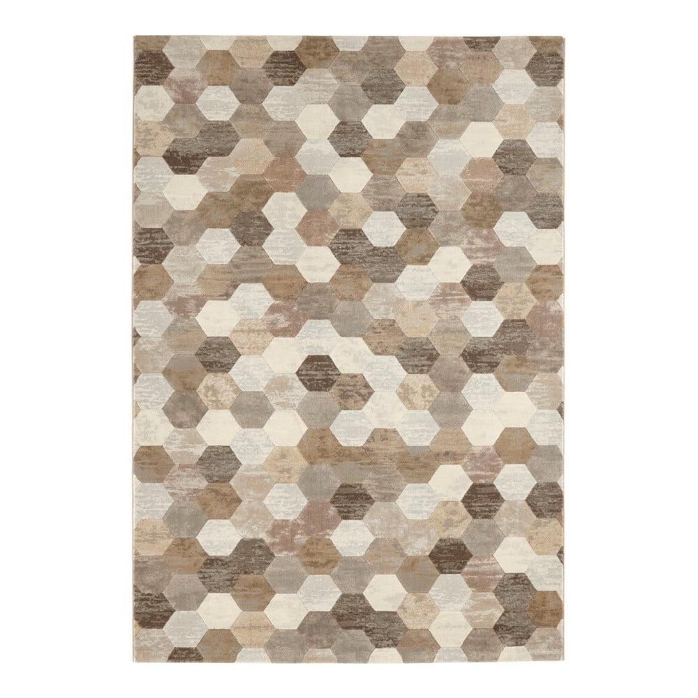 Hnědo-krémový koberec Elle Decor Arty Manosque, 120 x 170 cm