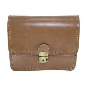 Béžová kožená kabelka Chicca Borse Kutlo 5c5d3a0b74b