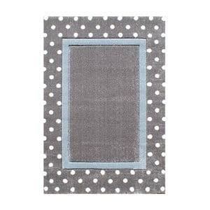 Modrošedý dětský koberec Happy Rugs Dots, 120x180cm
