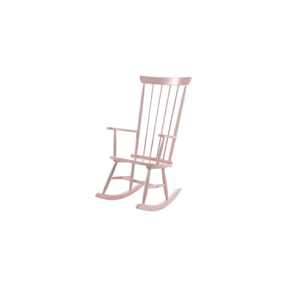 Růžové houpací křeslo Vipack Rocky