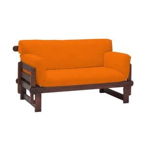 Canapea extensibilă cu 2 locuri 13Casa Karma, portocaliu