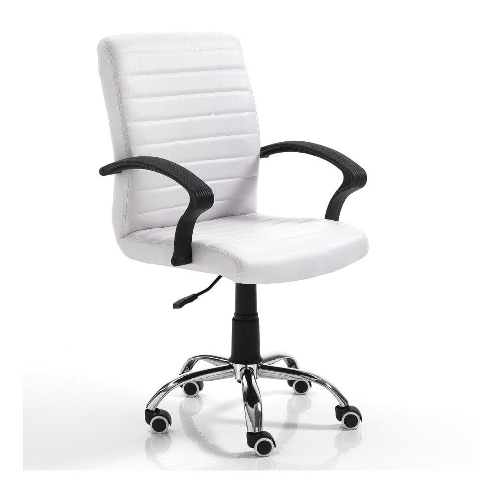 Bílá kancelářská židle na kolečkách Tomasucci Pany