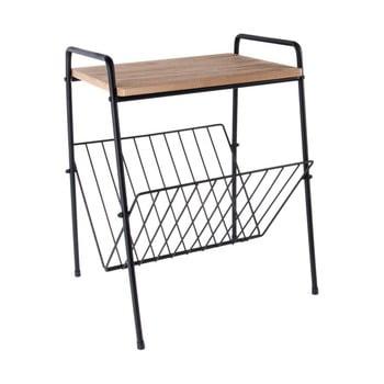 Masă/suport din metal și lemn pentru reviste PT LIVING