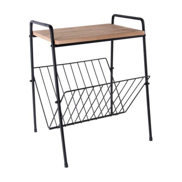 Fa és fém újságtartó asztalka - PT LIVING