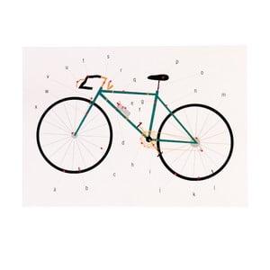 Felicitare aniversară și plic Rex London Anatomy Of a Bicycle