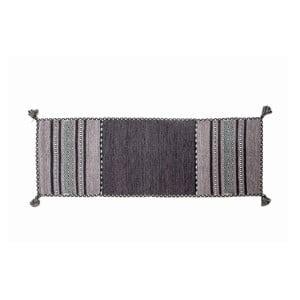 Tmavě šedý ručně tkaný běhoun Navaei & Co Kilim Tribal 402, 180x60cm