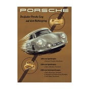 Plakát Porsche Alpenfahrt, 70x50 cm