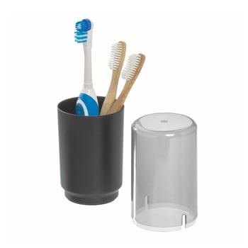 Pahar cu capac pentru periuțele de dinți iDesign Austin, negru de la iDesign