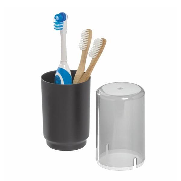 Austin fekete fogkefetartó fedéllel - iDesign