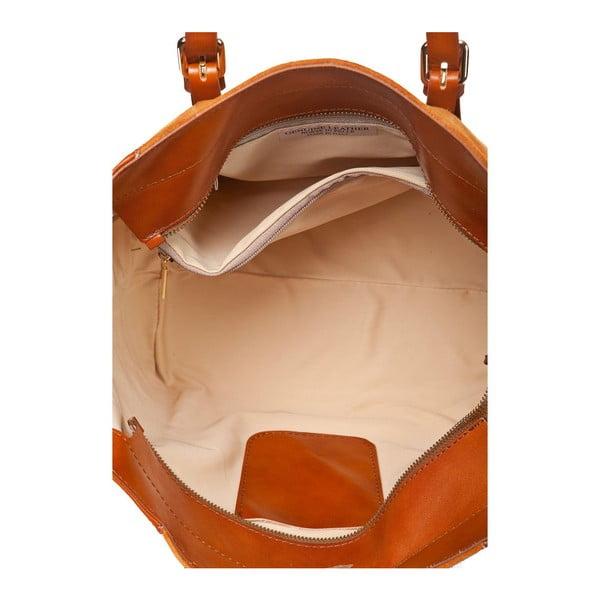 Kožená kabelka Luna, oranžová