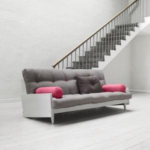 Canapea extensibilă Karup Indie Cool Gray/Gris/Light Bordeaux