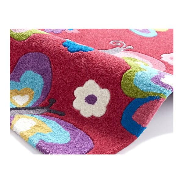 Růžový koberec Think Rugs Hong Kong Pink, 70x140cm