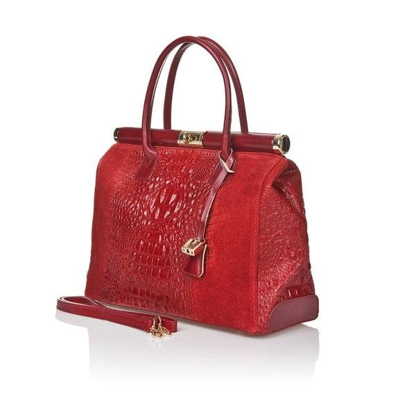 Kožená kabelka Italia 825 Rosso