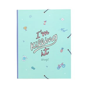 Modrý linkovaný zápisník Mr. Wonderful I´m killing it