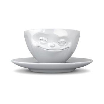 Ceașcă din porțelan pentru cafea 58products Smile, 200 ml, alb de la 58products