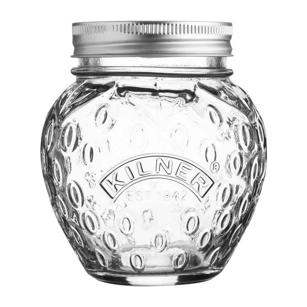 Skleněná zavařovací sklenice s víčkem Kilner Jahoda, 0,4 l