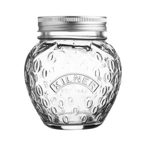 Skleněná zavařovací sklenice s víčkem Kilner Jahoda, 0,4l