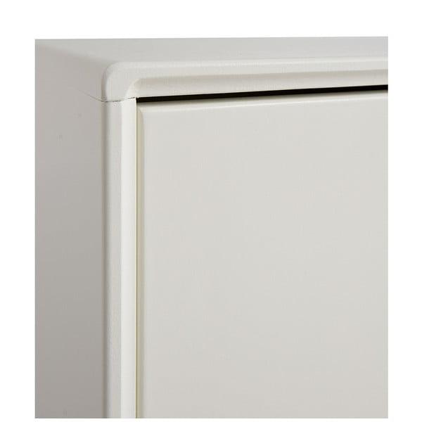 Bílá ručně vyráběná komoda z masivního březového dřeva Kiteen Kolo, 75x150cm